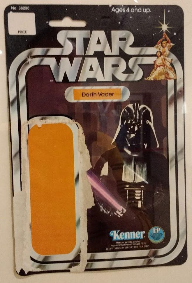 Original Kenner Card Back for Darth Vader Figure
