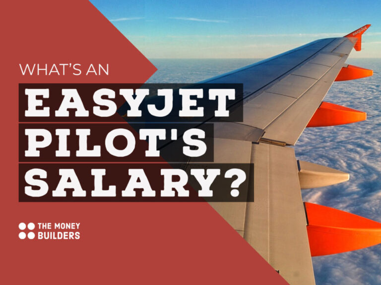 easyJet Pilots Salary text with aeroplane wing in background