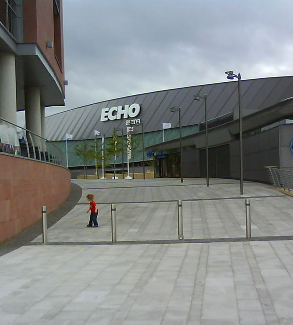 Echo Arena, Liverpool from distance
