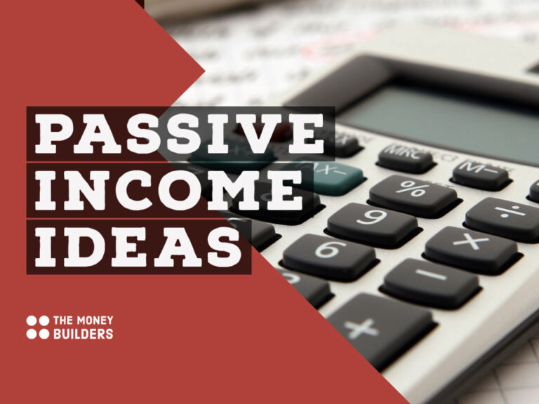 Passive Income Ideas text with calculator in background